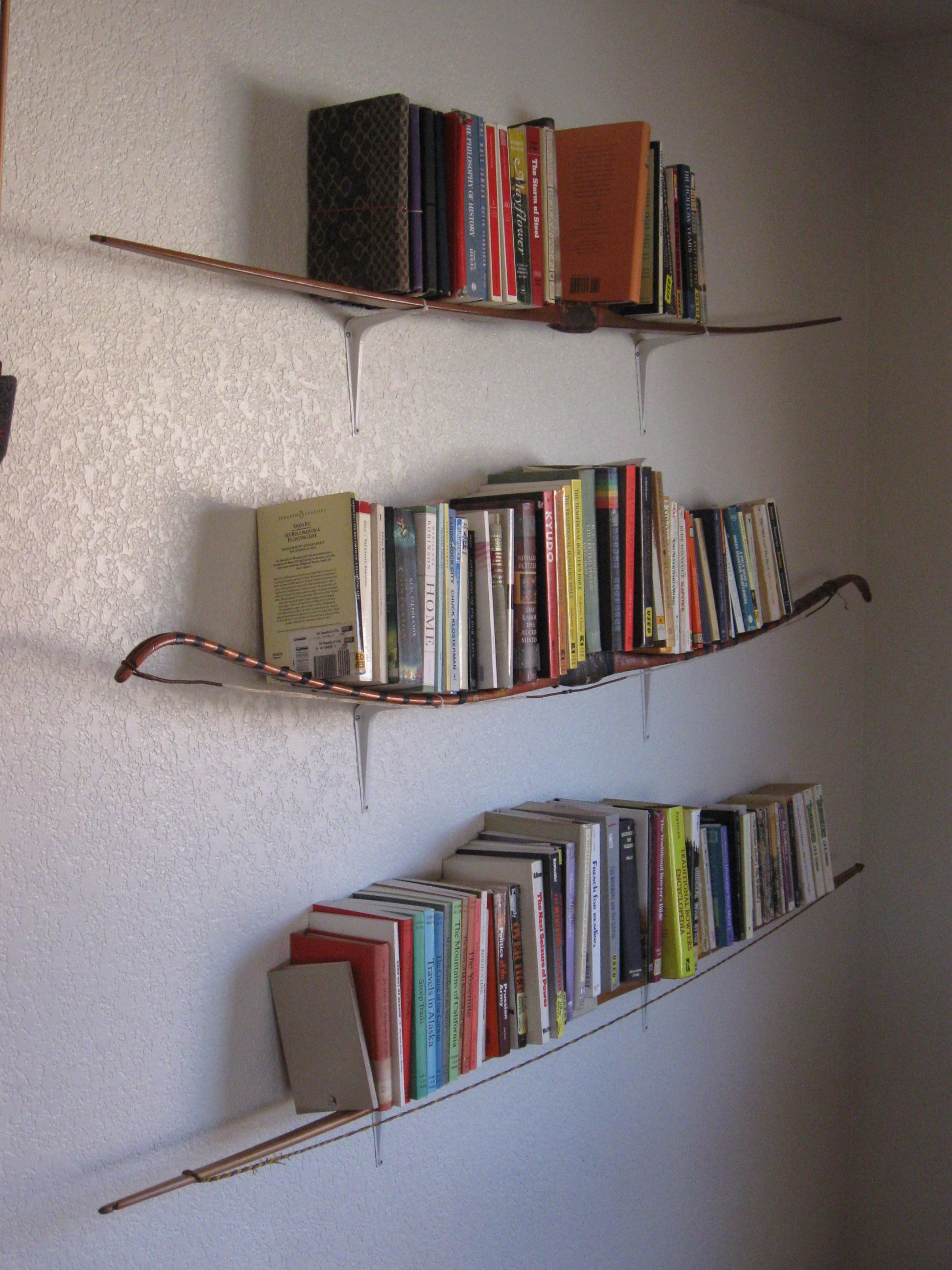 Side View Of The Bow Bookshelf