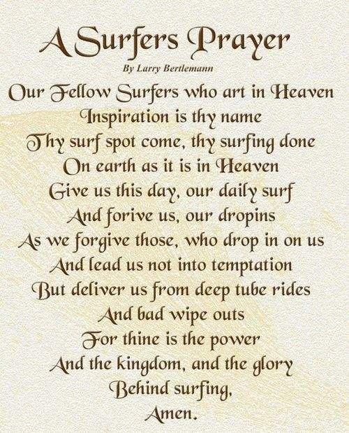 A surfers prayer