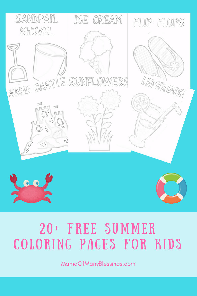 20 FREE summer coloring pages for kids. A perfect way to combat the ...