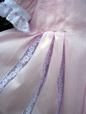 Susan Stewart Designs - inset pleats on Lily pattern | Heirloom ...