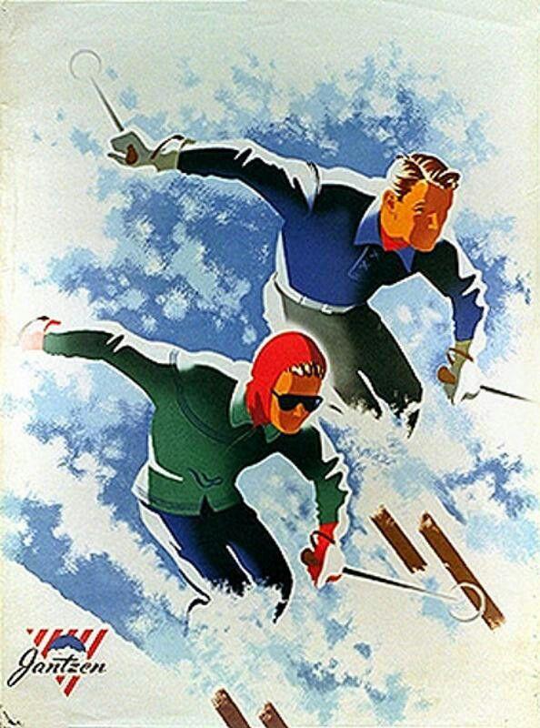 Ski Vintage Poster 1947