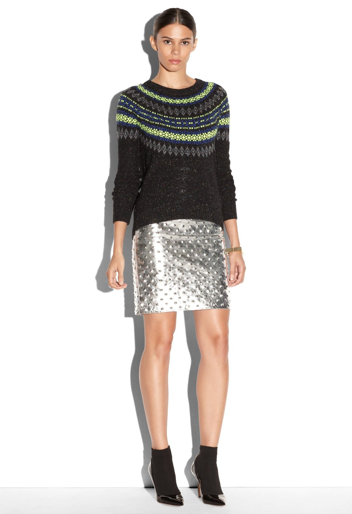 NEON FAIR ISLE SWEATER - Sweaters - Shop By Category MILLY NY | My ...