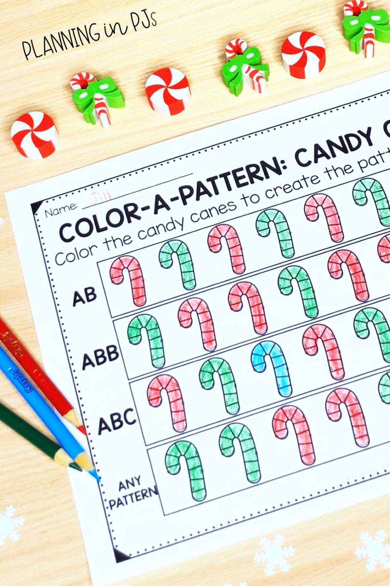 Color A Pattern Christmas Colour A Pattern