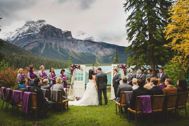 Emerald Lake Lodge Viewpoint Ceremony Jpg