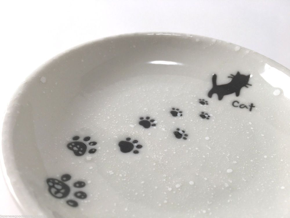 Japanese Dish Cat paw print Dinnerware Plate Made in Japan | eBay & Japanese Dish Cat paw print Dinnerware Plate Made in Japan