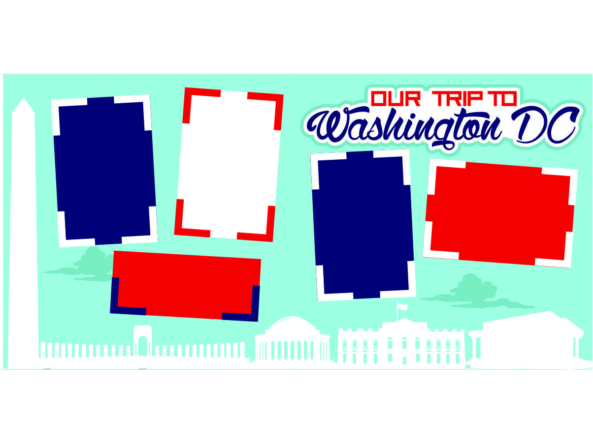 Our Trip to Washington DC (600) is part of Our Girls Trip To Washington Dc With Porter Escapes La - This comes as a kit and includes (2) 12 x 12 pages with all the frames, borders,diecut pieces and 6 x 10 color picture to complete the kit All you need is pictures and adhesive
