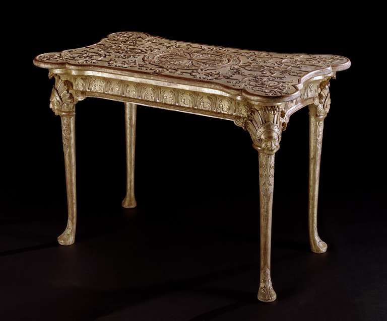 A George I Gilt Gesso Centre Table  | From a unique collection of antique and modern center tables at http://www.1stdibs.com/furniture/tables/center-tables/