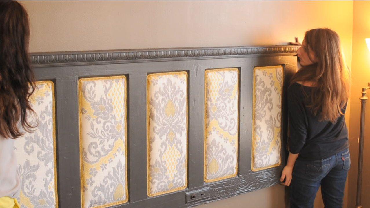 Diy upholstered door headboard ideas for a new home pinterest