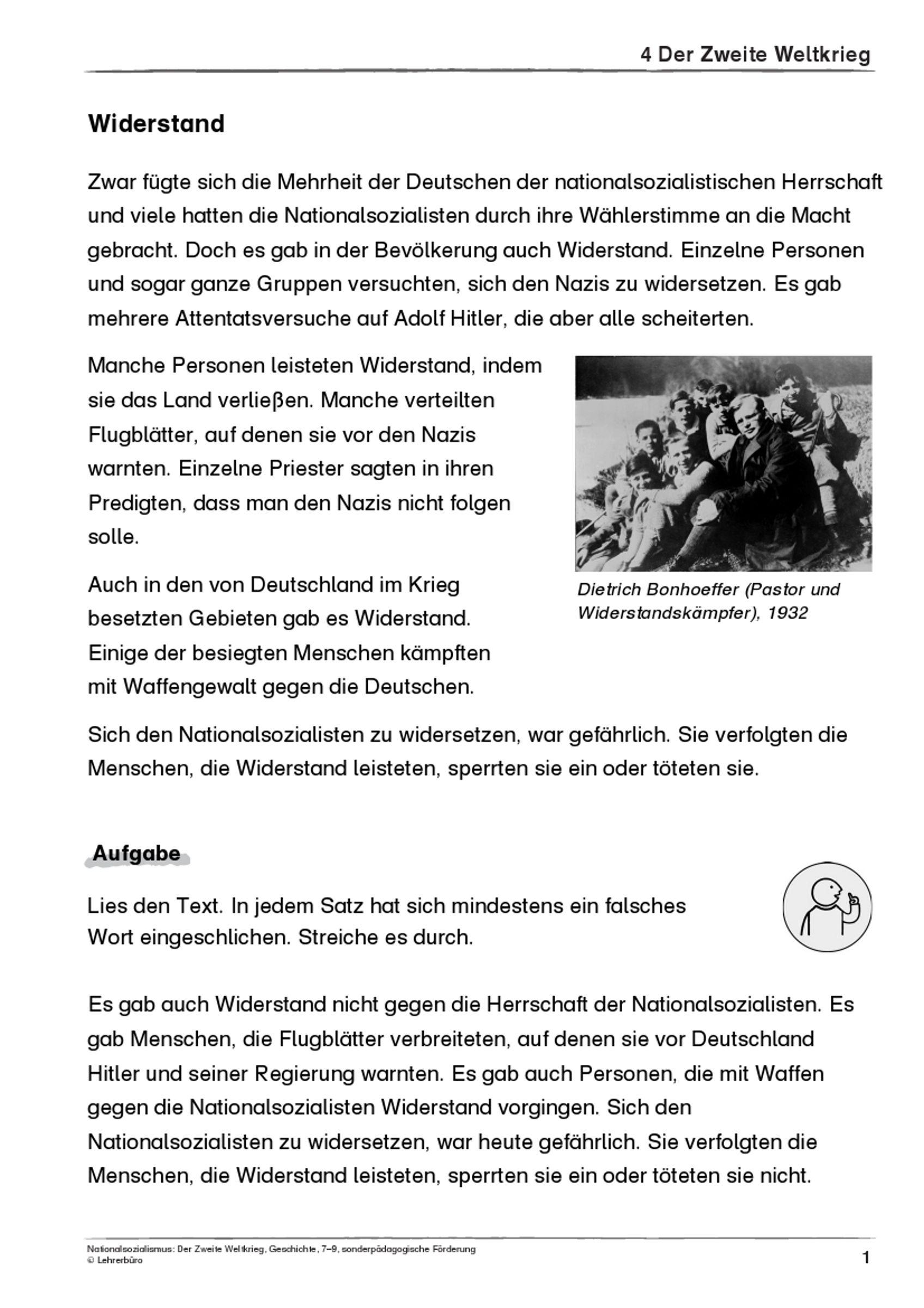 25 Arbeitsblatter Nationalsozialismus