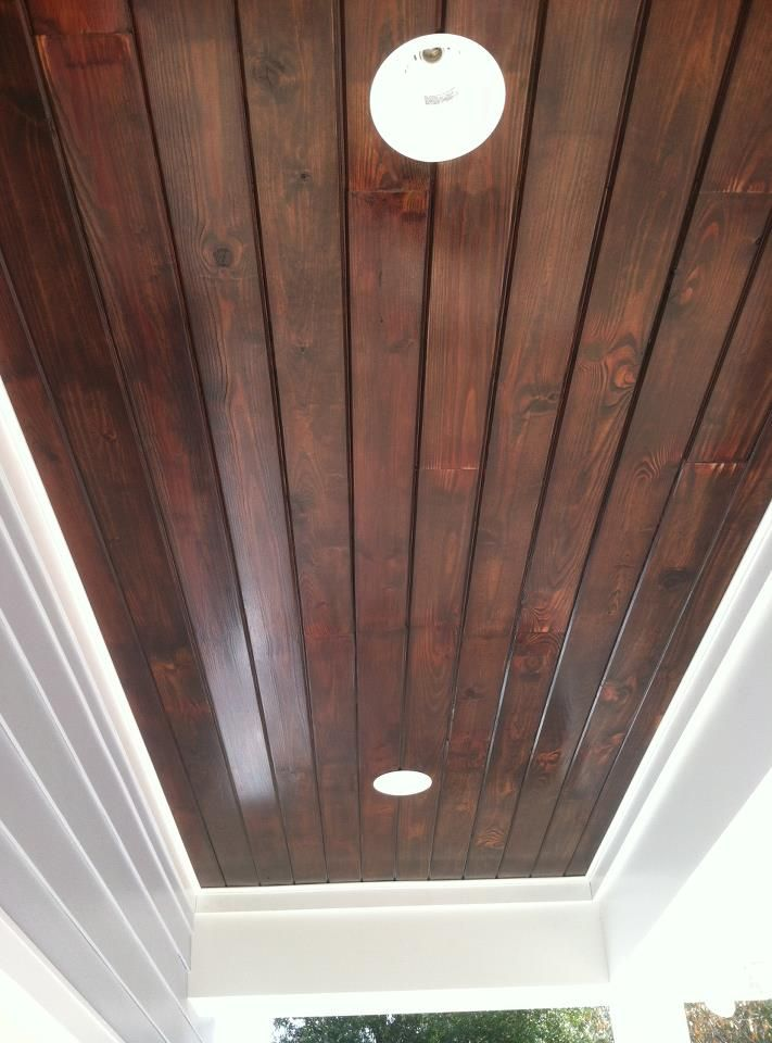 tongue and groove ceiling-great stain color for foyer and gallery