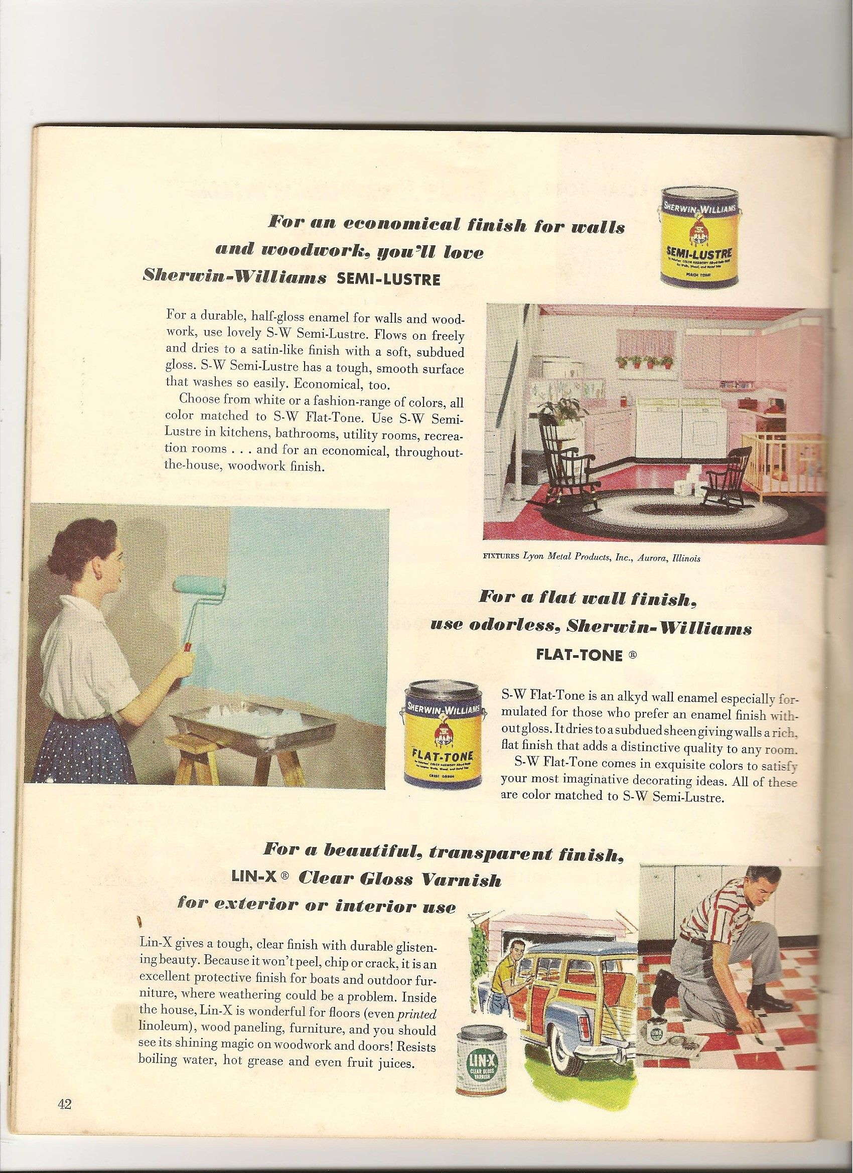 A Lyon kitchen in a paint ad. | Lyon Midcentury Metal Kitchen ...