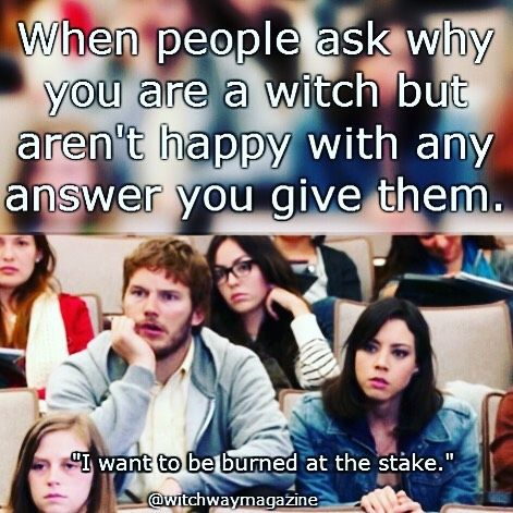 Funny Witch Park And Recs Meme Http Www Witchwaymagazine Com