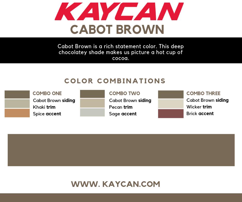 Cabot Brown Davinci Vinyl Siding Collection Vinyl Siding Colors Vinyl Siding Siding Colors