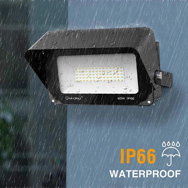 60w Led Flood Light With Light Shield 6000lm Super Bright Security Lights 2 Pack Light Shield Led Flood Flood Lights