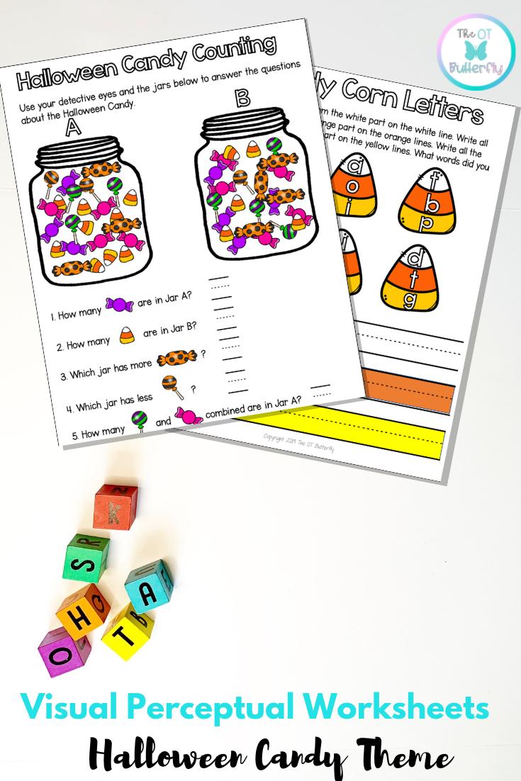 Visual Perceptual Worksheets Halloween Packet No Prep Halloween Packet Visual Perceptual Activities Handwriting Activities [ 1102 x 735 Pixel ]