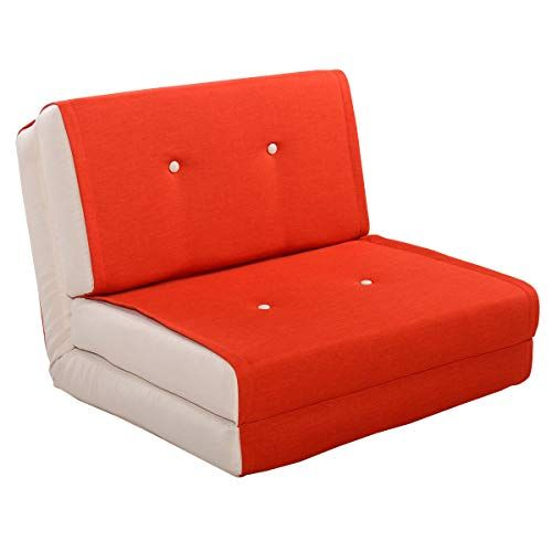 Orange Convertible Fold Lounger Fold Down Chair Flip Out Lounger