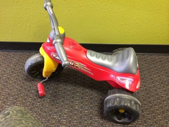 Fisher Price Kawasaki Trike - Give your child a little adventure with this Fisher Price Kawasaki Trike.  Recommended for ages 2-5.  Click the link below to see more of the great merchandise available at Lily Pads! - $18.50