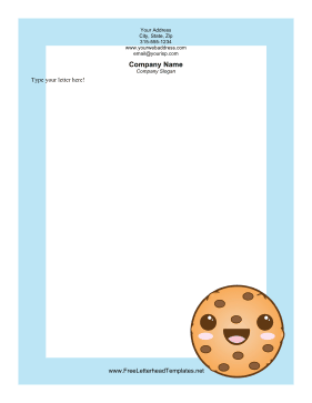 Great for snacklovers this printable dessert letterhead features