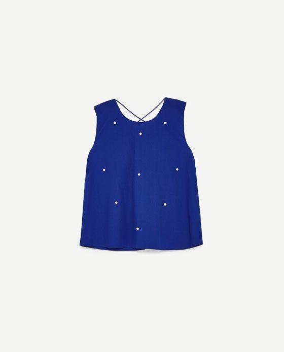 b3c0216e4 Imagen 8 de BLUSA PERLAS Y VOLANTES de Zara   Clothing & Outfits ...