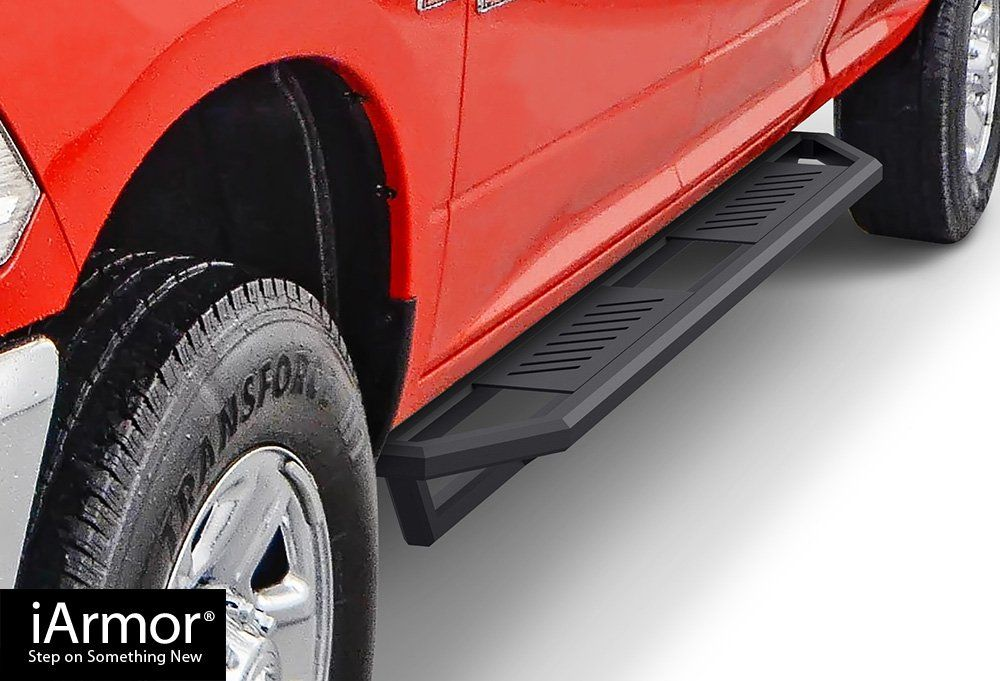 iArmor Aluminum Side Steps Armor Custom Fit 2009-2018 Dodge