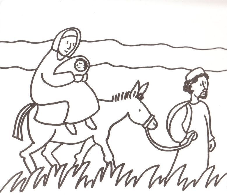 joseph mary and jesus fled to egypt clip art - Google Search Jesus - copy coloring pages of joseph and the angel