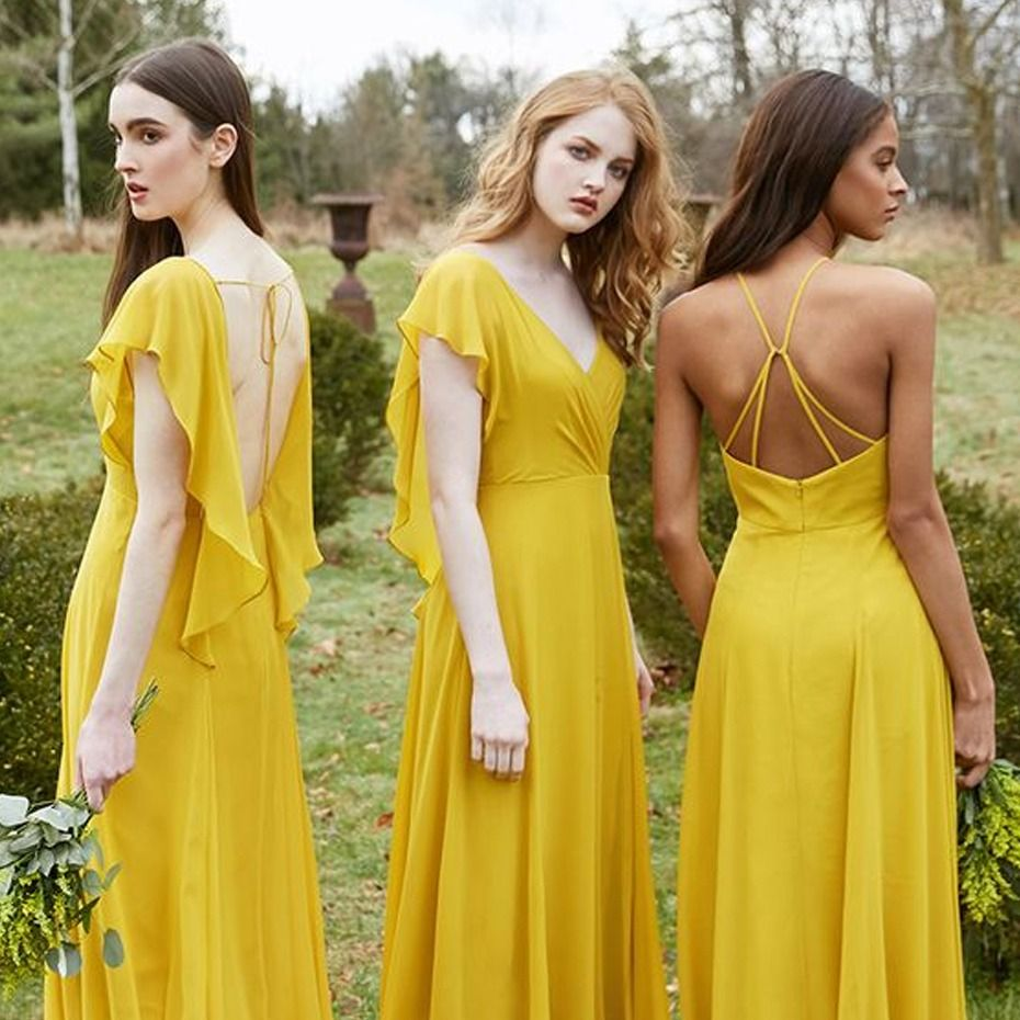 Bridesmaid dresses your pregnant friends can wear yellow
