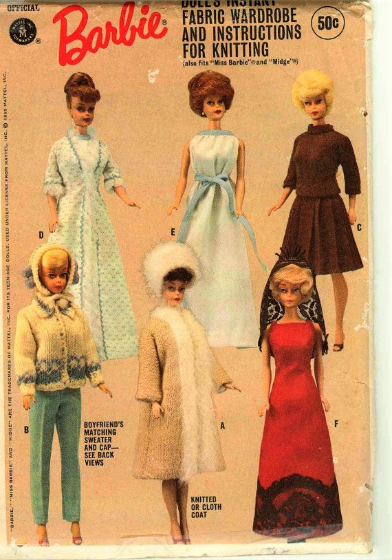 Barbie Midge doll Sewing and Knitting Pattern PDF download Fashion ...