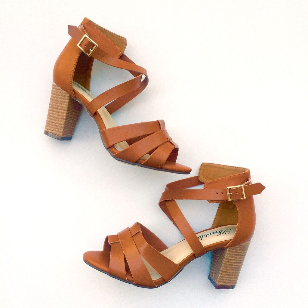 f9c725b0095 These cute strappy sandals feature a chunky 3-inch heel and buckle closure.  Sure to be a favorite