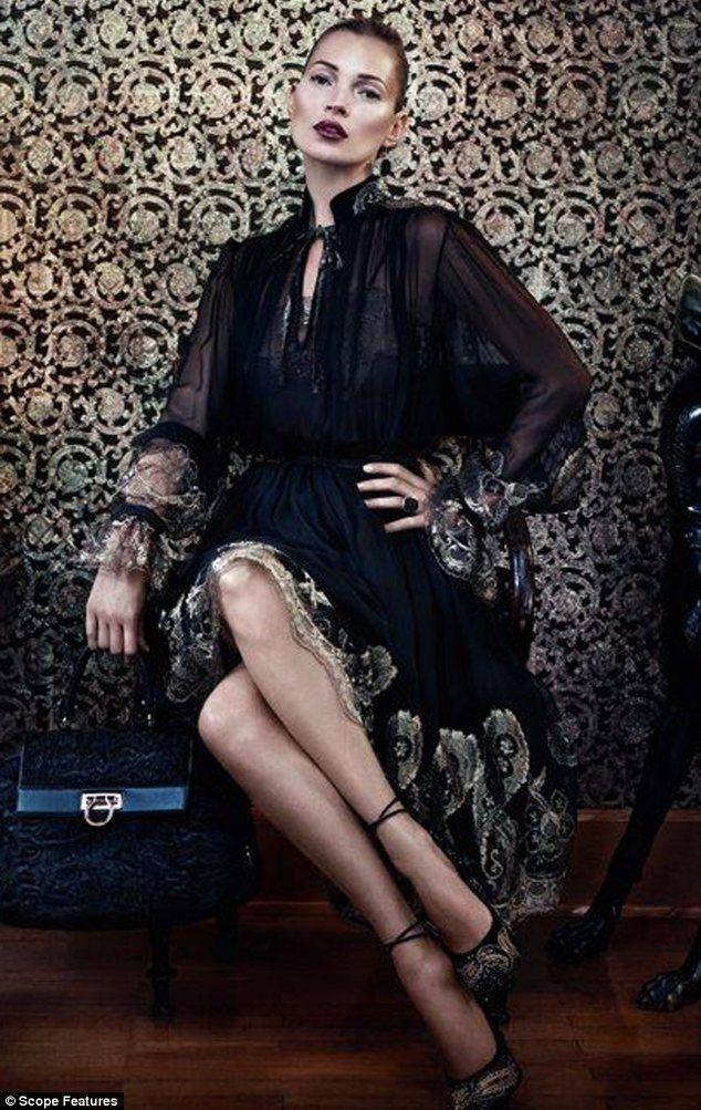 5995d0128d1 La Dolce Vita  Kate Moss in the latest Salvatore Ferragamo Autumn Winter  2012 2013
