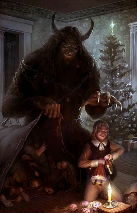 Krampus The Christmas demon God love the Germans all other