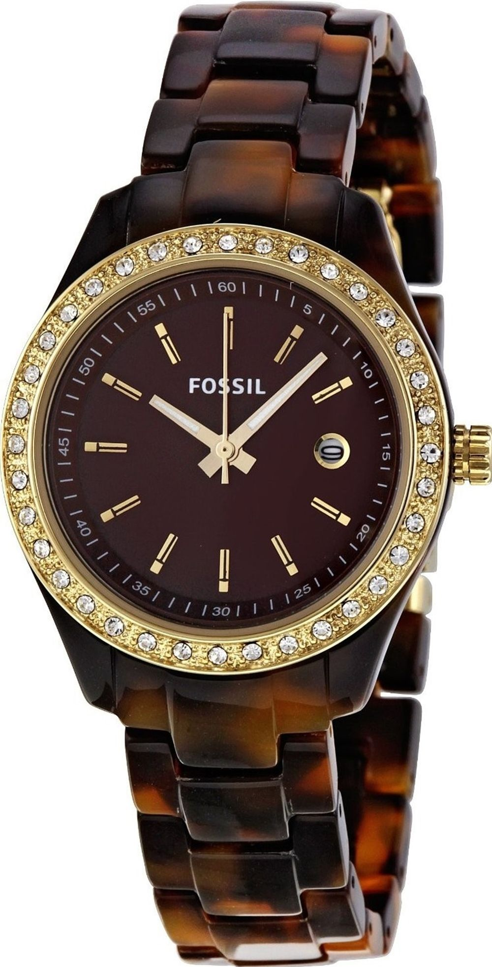 #Fossil Women's ES2922 Stella Brown Dial #Watch