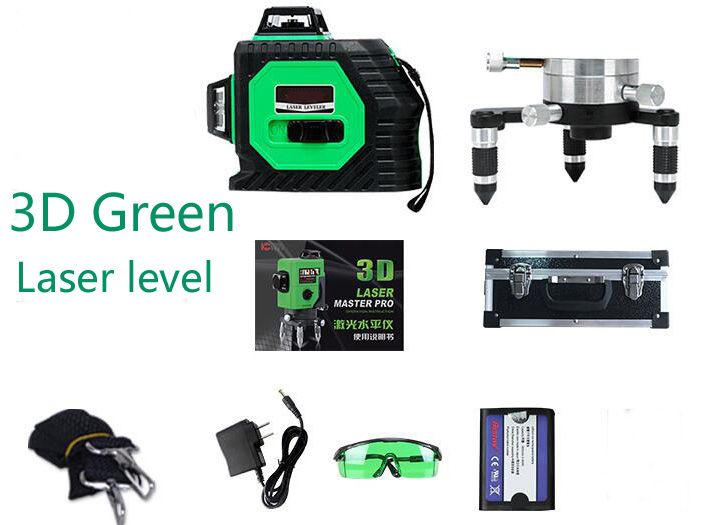 3d Green Laser Level Measuring Tool And 360 Rotary Self Leveling Outdoor 532nm Eu Laser Beam Cross Line Level Laser Levels Green Laser Measurement Tools