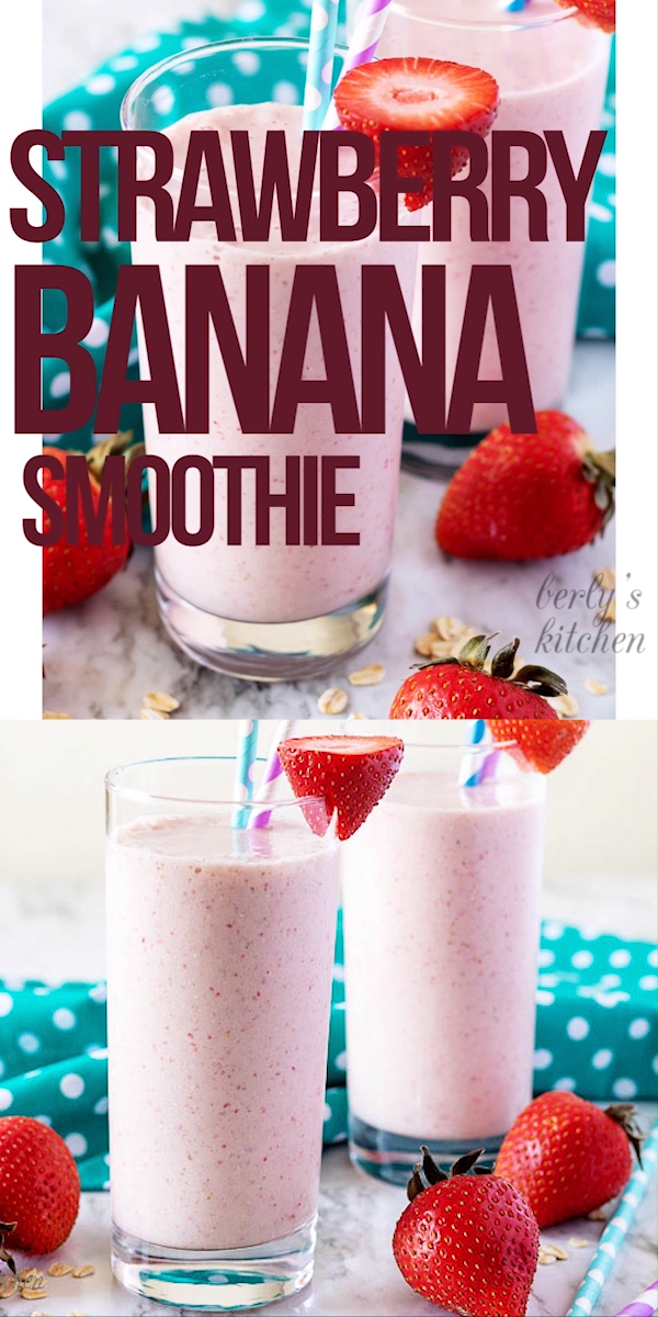 Strawberry Banana Smoothie – Carey&CleanEatingS