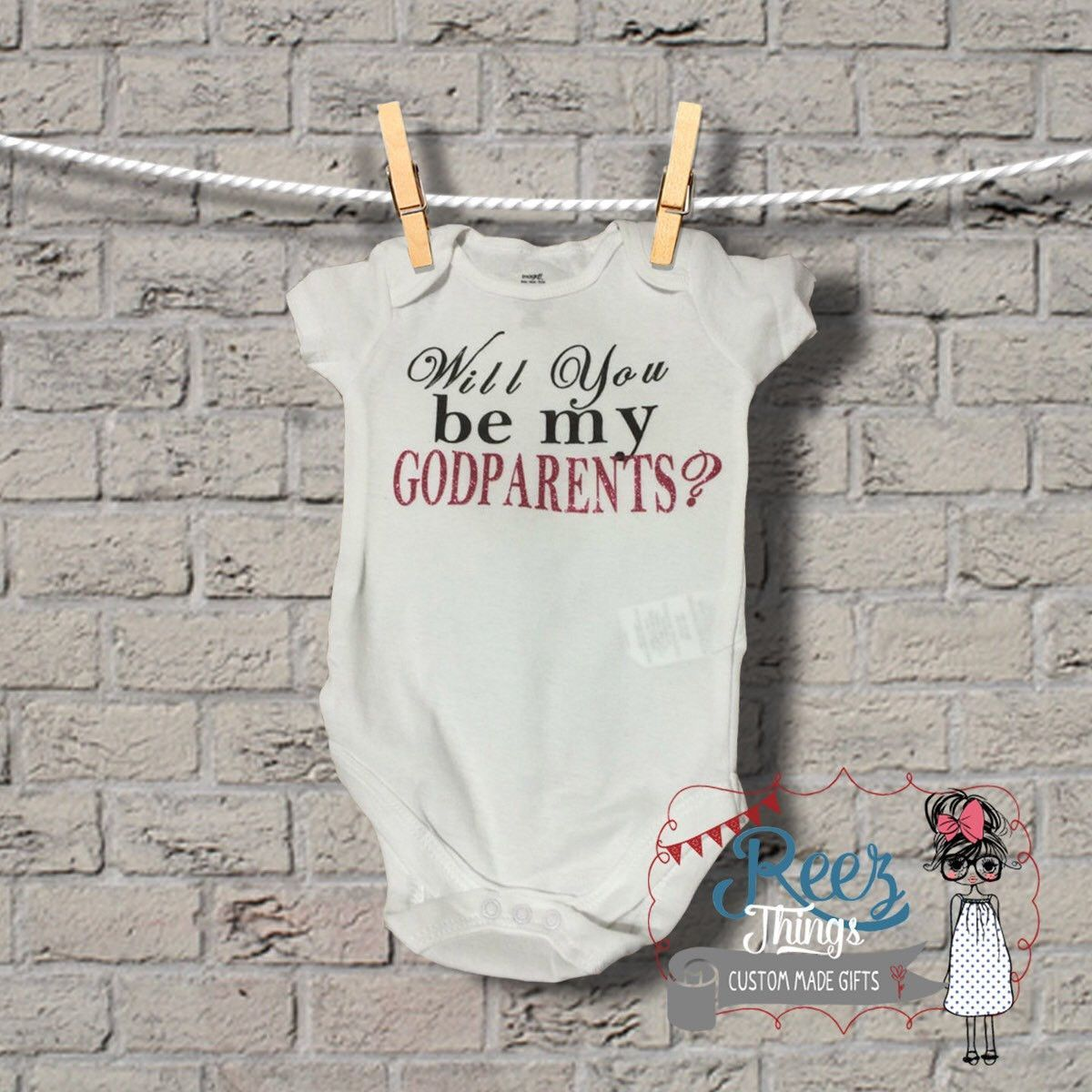 Will you be my Godparents? Bodysuit /Tshirt | Baby ...