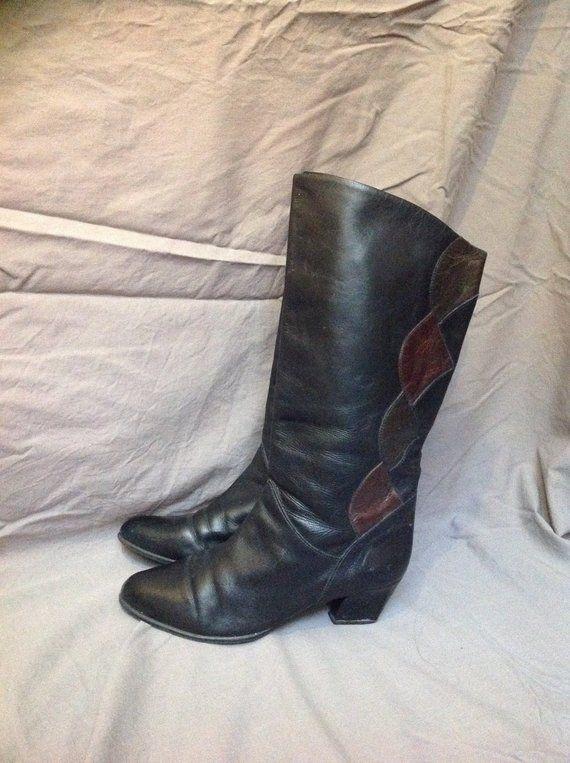00de140b42053 90s Western Boots Black Frye Boots US 7,5 EU 38 UK 5,5 in 2019 ...