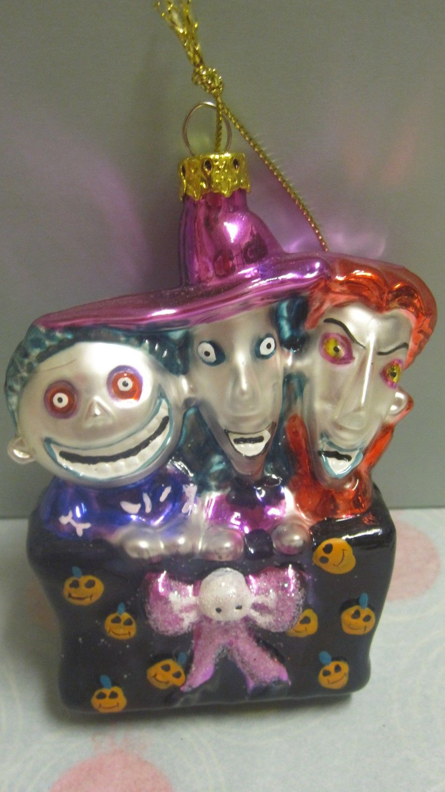 Halloween glass ornaments - Disney Jack Nightmare Before Christmas Blown Glass Ornament Lock Shock Barrel