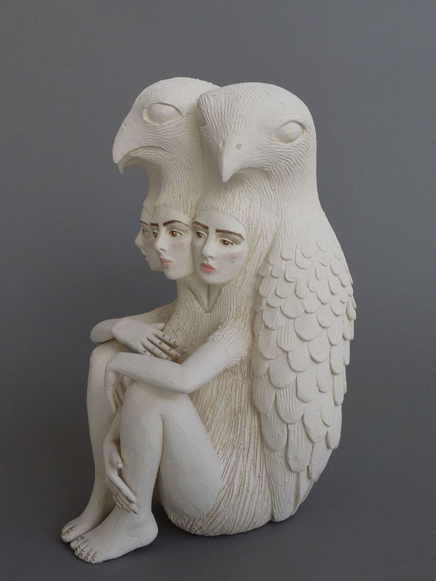 Crystal Morey Art Dolls Sculpture Clay Ceramic Art