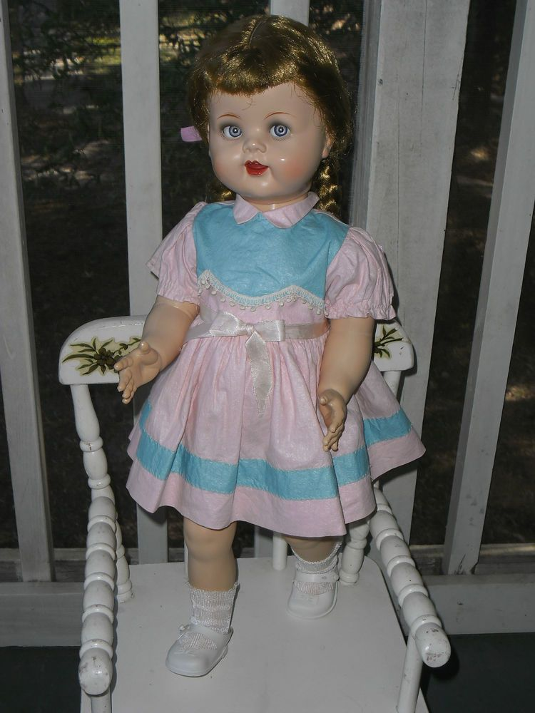 """Ideal 1950's ~22.5"""" Beautiful SAUCY WALKER Doll ~Everything is ORIGINAL* ~NICE #DollswithClothingAccessories"""