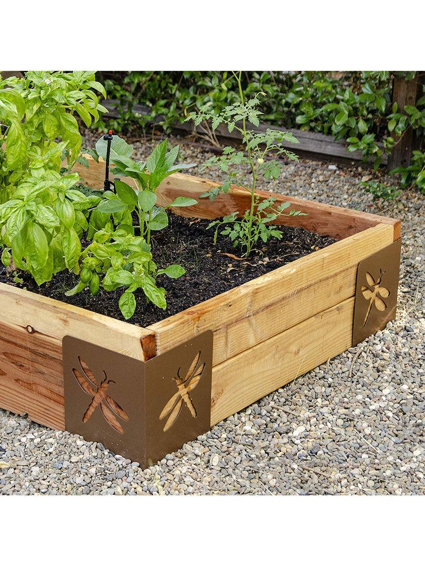 Instabrace Decorative Raised Bed Corner Brackets Gardener S Supply In 2020 Raised Bed Corners Vegetable Garden Raised Beds Pallet Garden