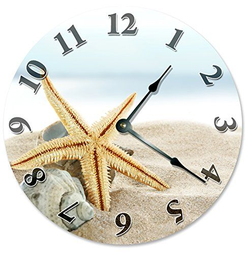 Coastal Beach Wall Clocks Beachfront Decor Wall clocks Novelty