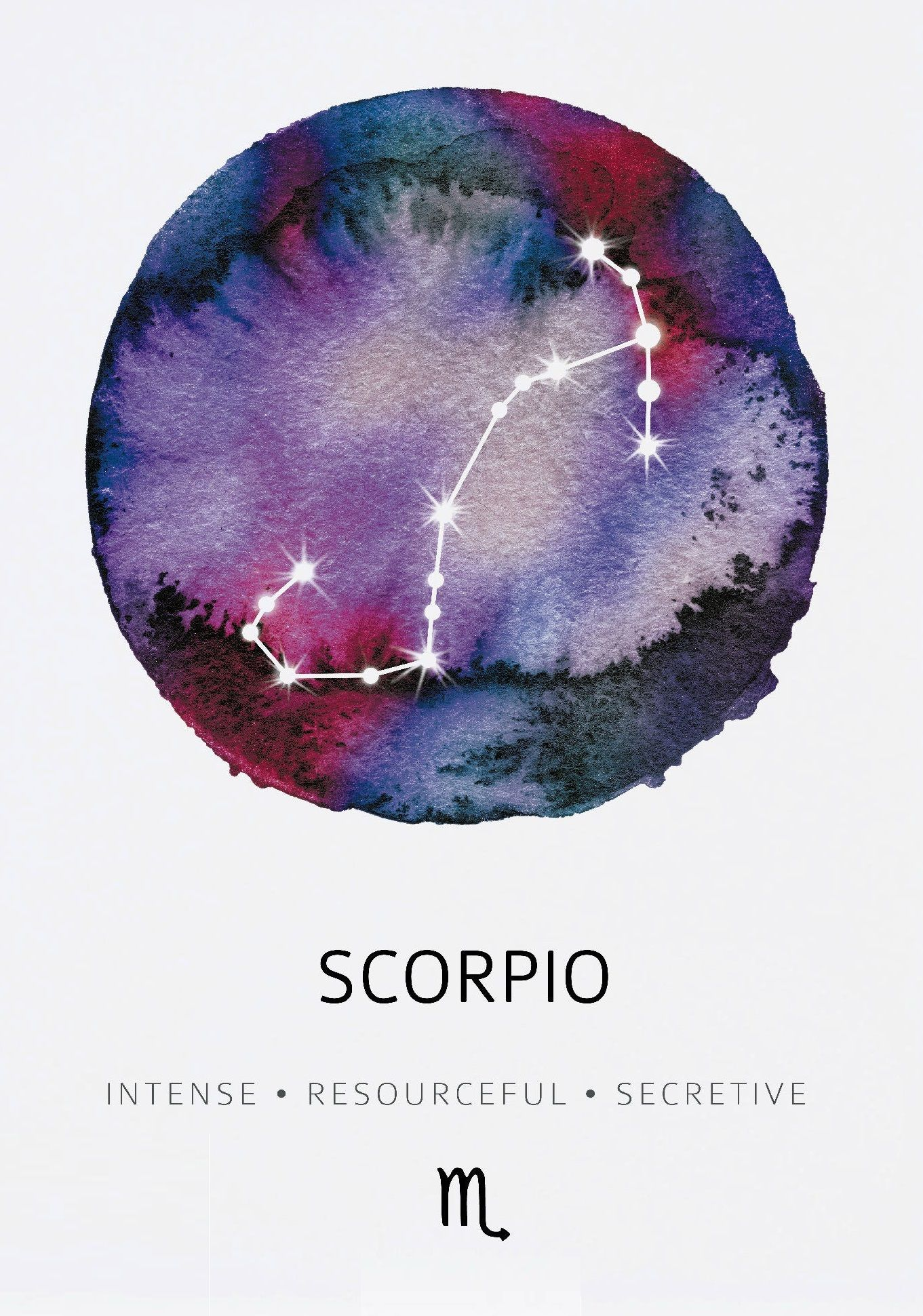 Scorpio ~ Intense, resourceful, secretive