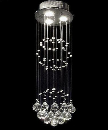 Loving this gallery raindrop crystal chandelier on zulily gallery lighting gallery raindrop crystal chandelier aloadofball Gallery