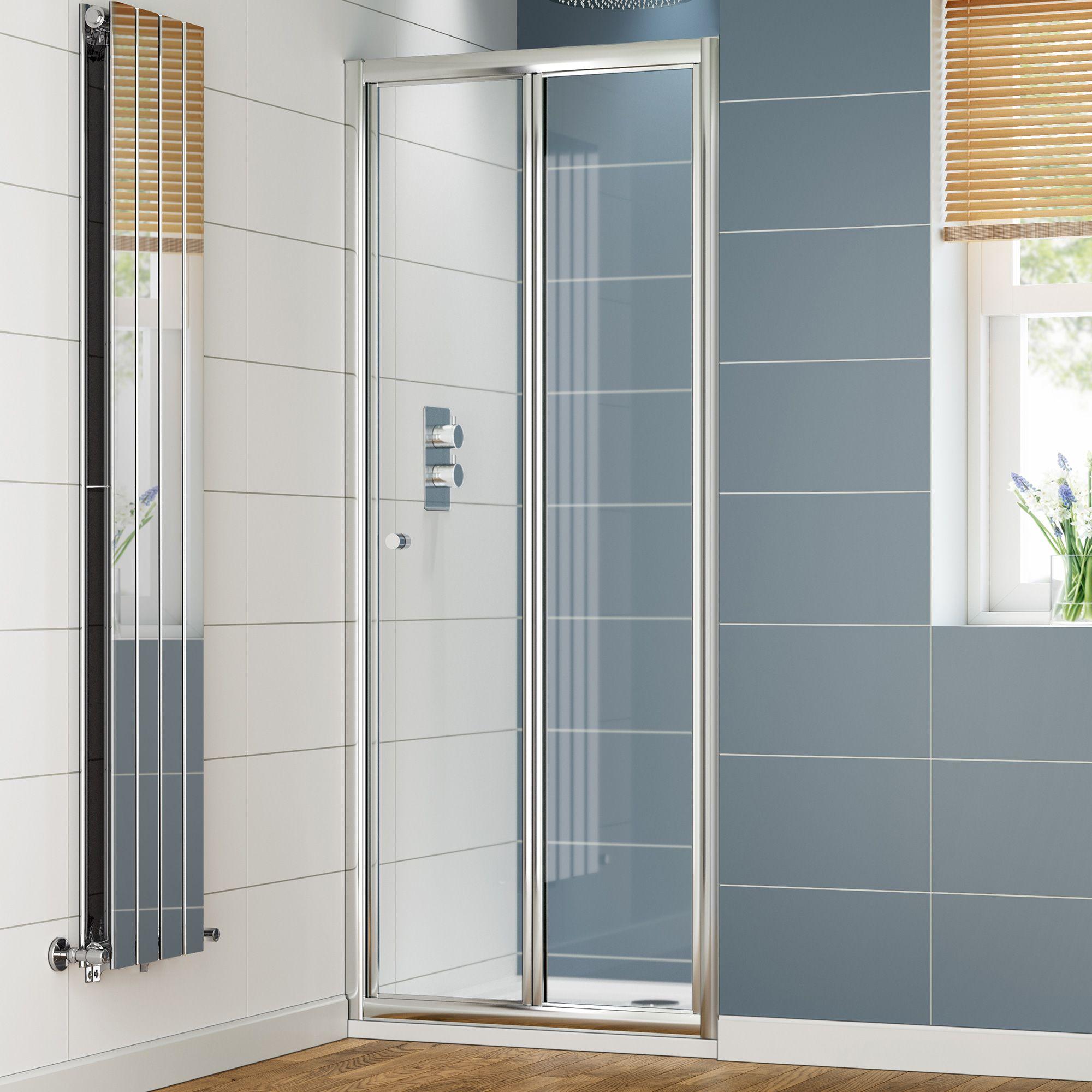 1000mm Elements Bi Fold Shower Door Bifold Shower Door Shower Enclosure Glass Shower Enclosures