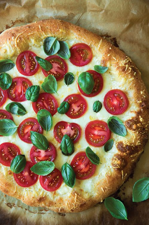 Four Cheese Caprese Pizza
