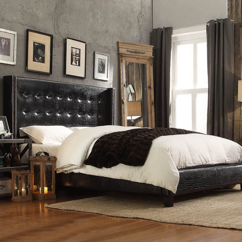 Inspired by Queen Anne style, this modern wingback headboard create a  little corner to curl