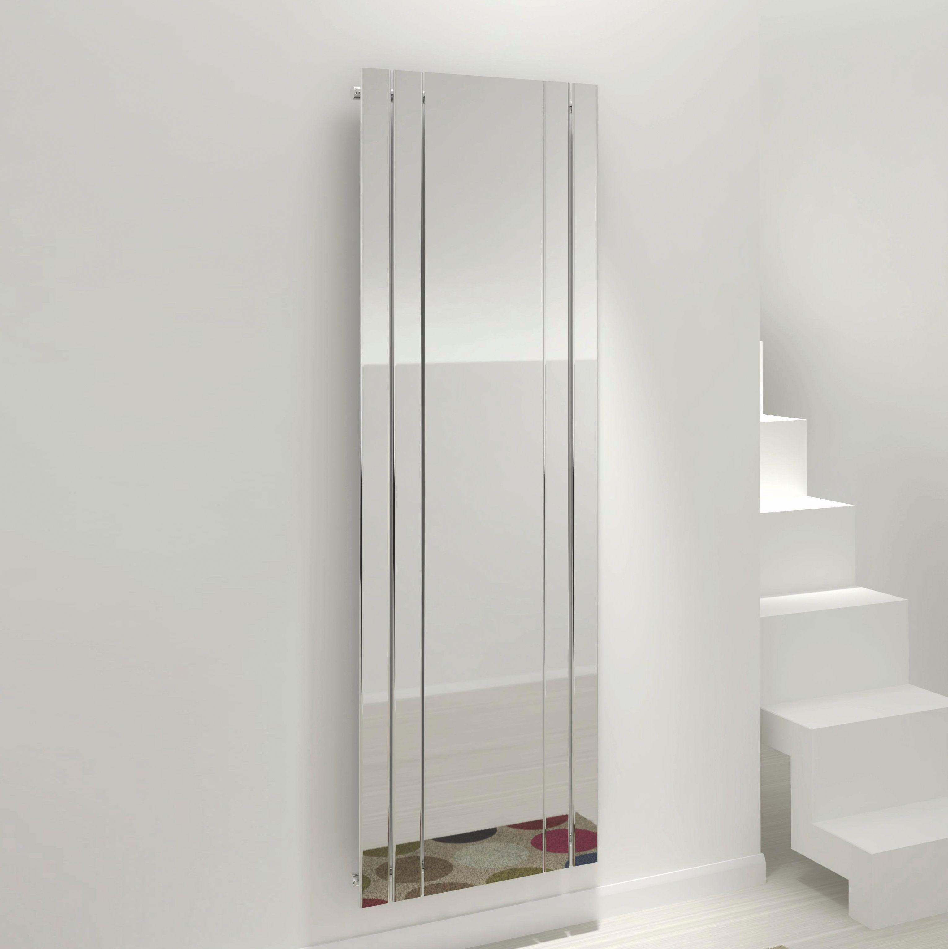 Kudox Tova Mirror Vertical Radiator Chrome (H)1800 mm (W)600 mm ...