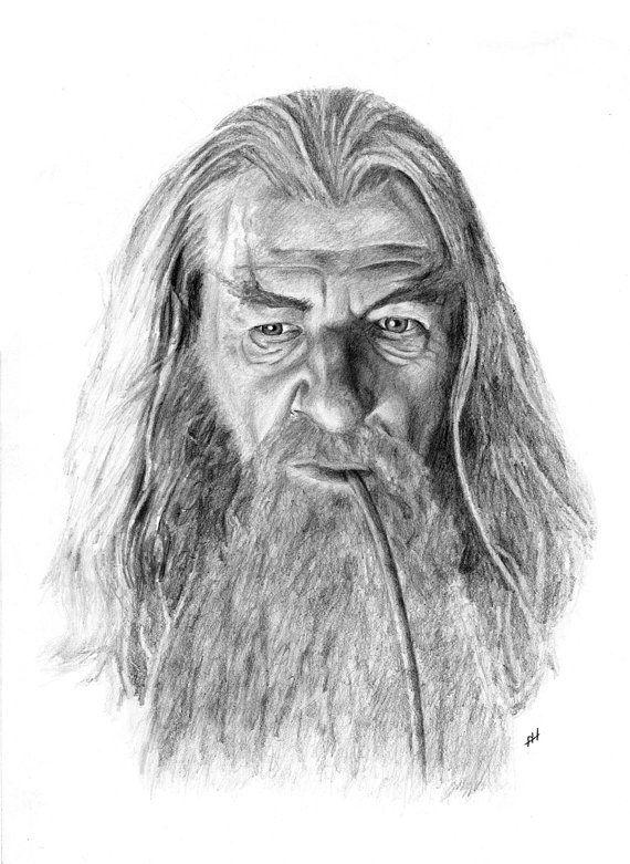 GANDALF pencil drawing por Cultscenes en Etsy   Dibujos a Lápiz ...