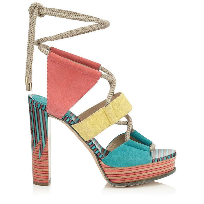 e1856d0f917 Las sandalias cargadas de colores protagonizan la colección de Jimmy Choo  para esta Primavera-Verano 2016