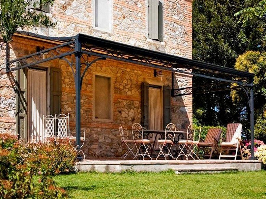 Pergole in ferro battuto giardini e gazebi pinterest for Piani di casa cottage con portici