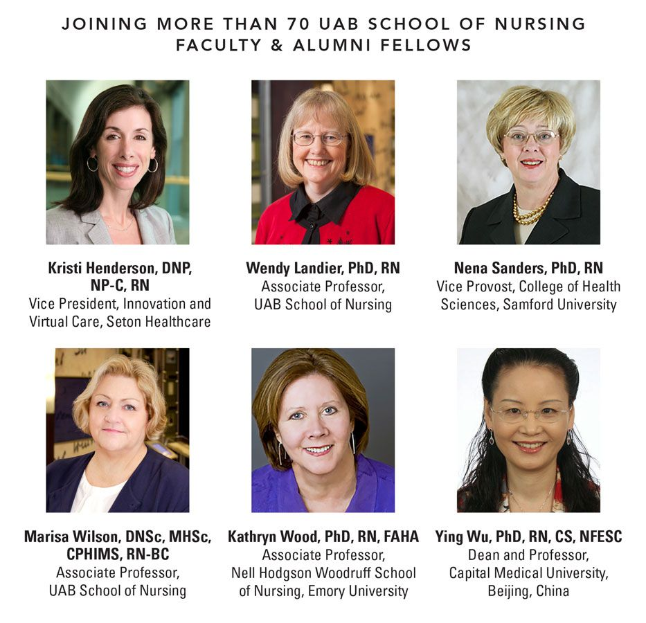 Six from UAB School of Nursing named Academy Fellows